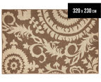 Floral Medallion 320x230cm UV Treated Indoor/Outdoor Rug - Brown 1