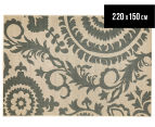 Floral Medallion 220x150cm UV Treated Indoor/Outdoor Rug - Cream 1