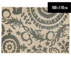 Floral Medallion 160x110cm UV Treated Indoor/Outdoor Rug - Cream 1
