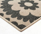 Floral Medallion 160x110cm UV Treated Indoor/Outdoor Rug - Cream 3
