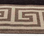 Greek Key 220x150cm UV Treated Indoor/Outdoor Rug - Brown/Black 4