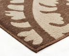 Floral Medallion 320x230cm UV Treated Indoor/Outdoor Rug - Brown 3