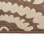 Floral Medallion 320x230cm UV Treated Indoor/Outdoor Rug - Brown 4