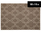 Geometric 160x110cm UV Treated Indoor/Outdoor Rug - Malt 1
