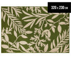 Tea Leaves 320x230cm UV Treated Indoor/Outdoor Rug - Green 1