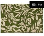 Tea Leaves 160x110cm UV Treated Indoor/Outdoor Rug - Green 1