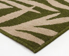 Tea Leaves 320x230cm UV Treated Indoor/Outdoor Rug - Green 3