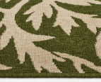 Tea Leaves 320x230cm UV Treated Indoor/Outdoor Rug - Green 4