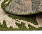 Tea Leaves 320x230cm UV Treated Indoor/Outdoor Rug - Green 6