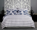 Gioia Casa Mason Queen Bed Mason Quilt Cover Set - Blue/Grey 2