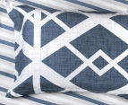 Gioia Casa Mason Queen Bed Mason Quilt Cover Set - Blue/Grey 5