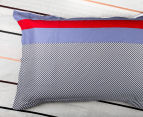 Gioia Casa Jason King Bed Quilt Cover Set - Navy/Red 5