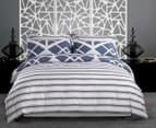 Gioia Casa Mason King Bed Mason Quilt Cover Set - Blue/Grey 2