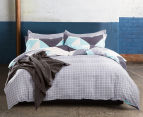 Gioia Casa Modern City 100% Cotton Reversible King Bed Quilt Cover Set - Grey/Mint 2