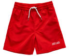 Just Jack Boys' Classic Boardshort - Vintage Red 1