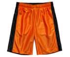 Just Jack Boys' Reversible Sport Short - Black/Orange 1