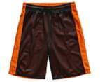 Just Jack Boys' Reversible Sport Short - Black/Orange 2