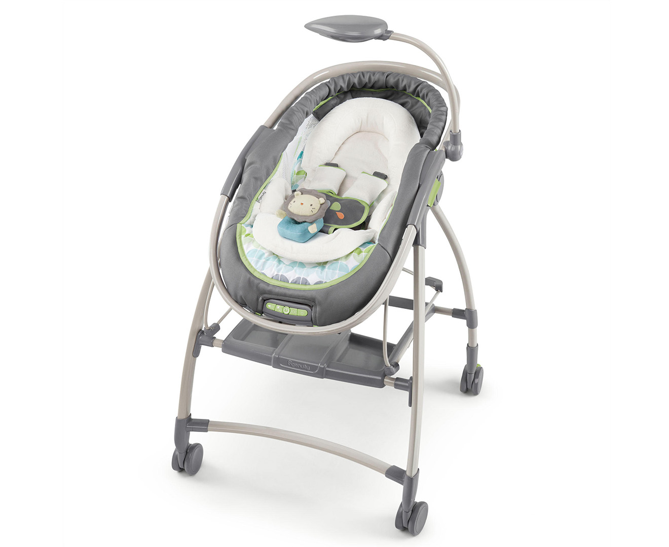 Ingenuity Inreach Mobile Lounger Bouncer Vespa Grey