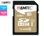 EMTEC SDHC Class 10 Gold+ 16GB SD Card 1