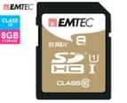 EMTEC SDHC Class 10 Gold+ 8GB SD Card 1
