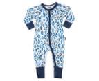 Bonds Baby Size 00 Zip Wondersuit - Snow Leopard 1