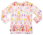 Bonds Baby Stretchies Long Sleeve Print Tee - Abstract Aztec 2