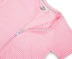 Bonds Baby Size 2 Zip Romper Wondersuit - Pink Stripe 3