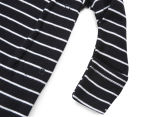 Bonds Baby Size 00 Newbies Coverall - Black Stripe 3