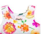 Bonds Baby Stretchies Chesty - Dropped Floral 3