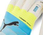Puma EVOpower Protect 3.3 Goal-Keeping Gloves - White/Atomic Blue/Yellow 4