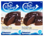 2 x White Wings 97% Fat Free Chocolate Cake Mix 530g 1