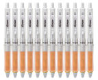 Pilot Dr. Grip Equilibrium Ball Point Pen 12-Pack - Orange Barrel/Black Ink 1
