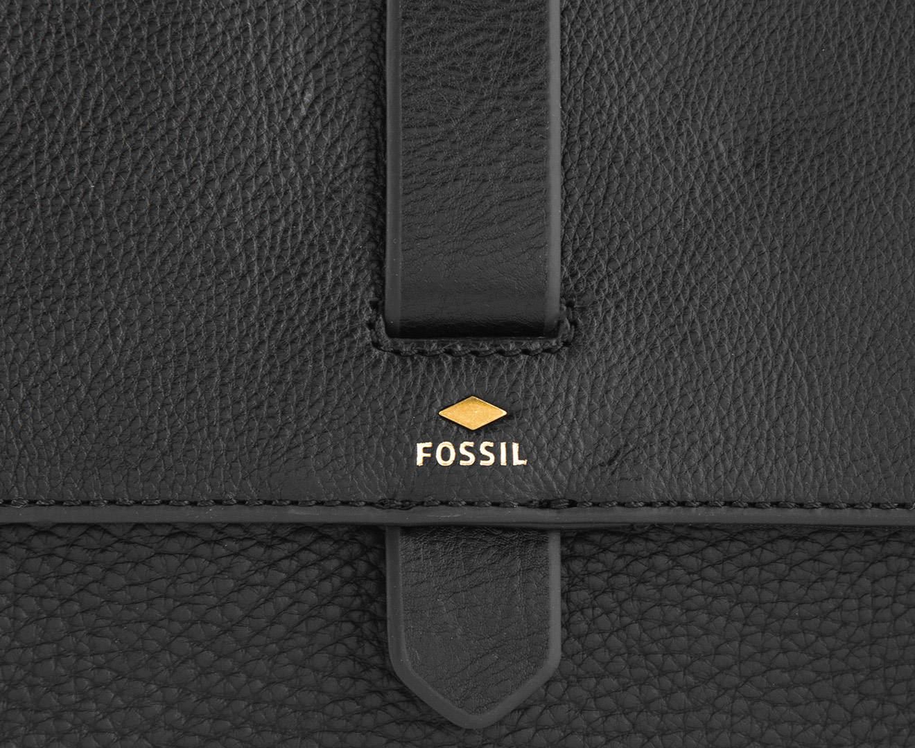 Fossil Kinley Small Crossbody Black Brown