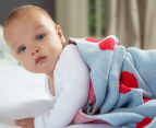 Little Bonbon 150x100cm Cot Blanket - Very Cherry 5