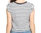 Rusty Women's Axle Short Sleeve Crop Tee - White 5