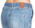 Rusty Women's Tomboy Denim Beach Pant - Blue Streak 5