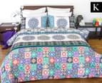 Apartmento King Bed Boho Reversible Comforter Set - Multi 1