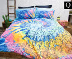 Retro Home Indah Queen Bed Quilt Cover Set - Multi 1