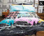 Retro Home Havana King Bed Quilt Cover Set - Aqua 1