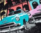 Retro Home Havana Queen Bed Quilt Cover Set - Aqua 3