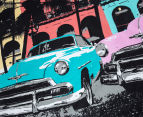 Retro Home Havana King Bed Quilt Cover Set - Aqua 3