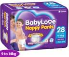 BabyLove Nappy Pants Toddler 9-14kg, 28pk 1