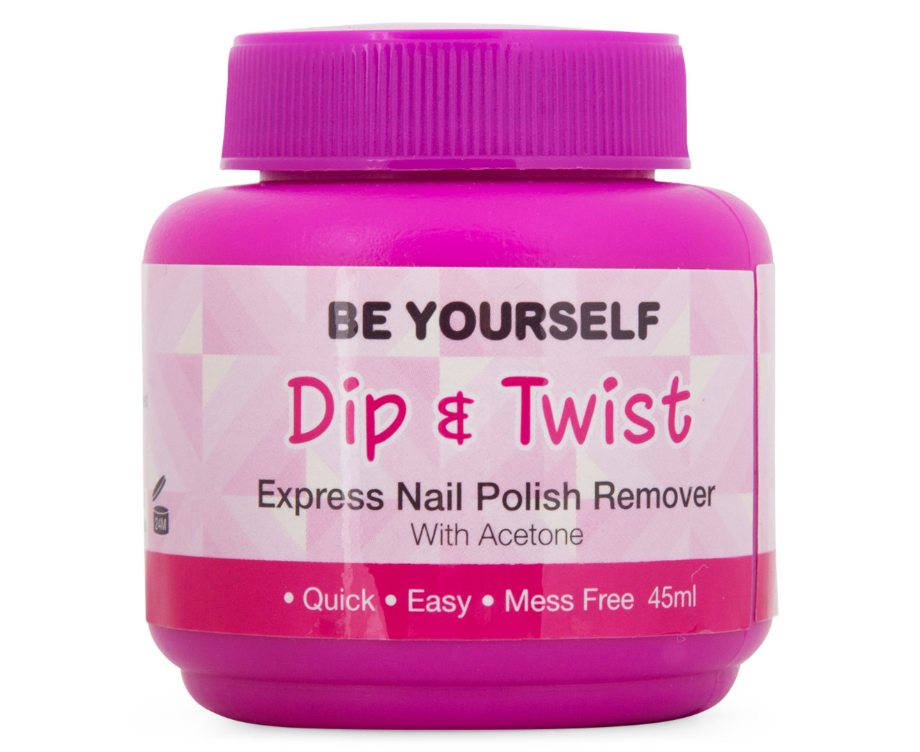 Be yourself dip twist express nail polish remover 45ml catch solutioingenieria Images