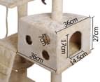 Multi-Level 170cm Cat Scratching Tree - Beige 4