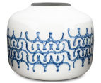 Blu Bianco 23x18cm Bowl Vase - White/Blue 1