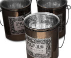 Set Of 4 Antique Style 10x12cm Candle Holders 5
