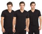 Calvin Klein Men's V-Neck T-Shirt 3-Pack - Black 1