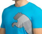 Puma Men's Side Cat Tee - Atomic Blue 6