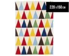 Joyful Kids' Triangle 220x150cm Rug - Multi 1