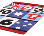Creative Kids 220 x 150cm Patch Soccer Rug - Multi 4